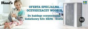 baner oferta specjalna do każdego oczyszzacza dodatkowy filtr hepa