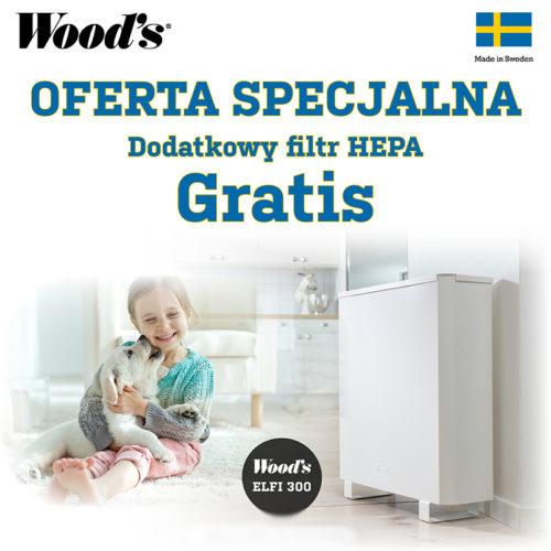 Oczyszczacz powietrza WOODS ELFI 300 (do 40 m2)