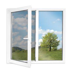 Widok okna z siatką respilon