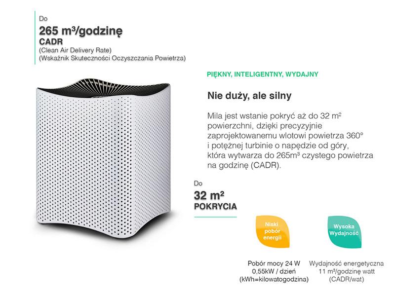 Mila (do 32 m2) Oczyszczacz powietrza