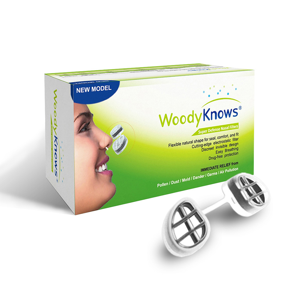Antyalergiczne Filtry do Nosa WoodyKnows Alergia. Ultra Breathable