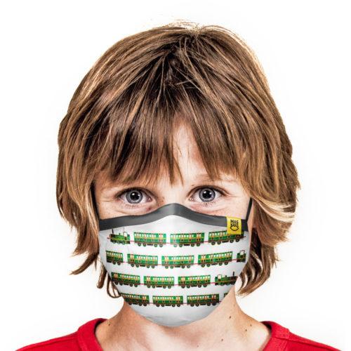 Maska Antysmogowa Maskiss z Respilonem. Pociąg