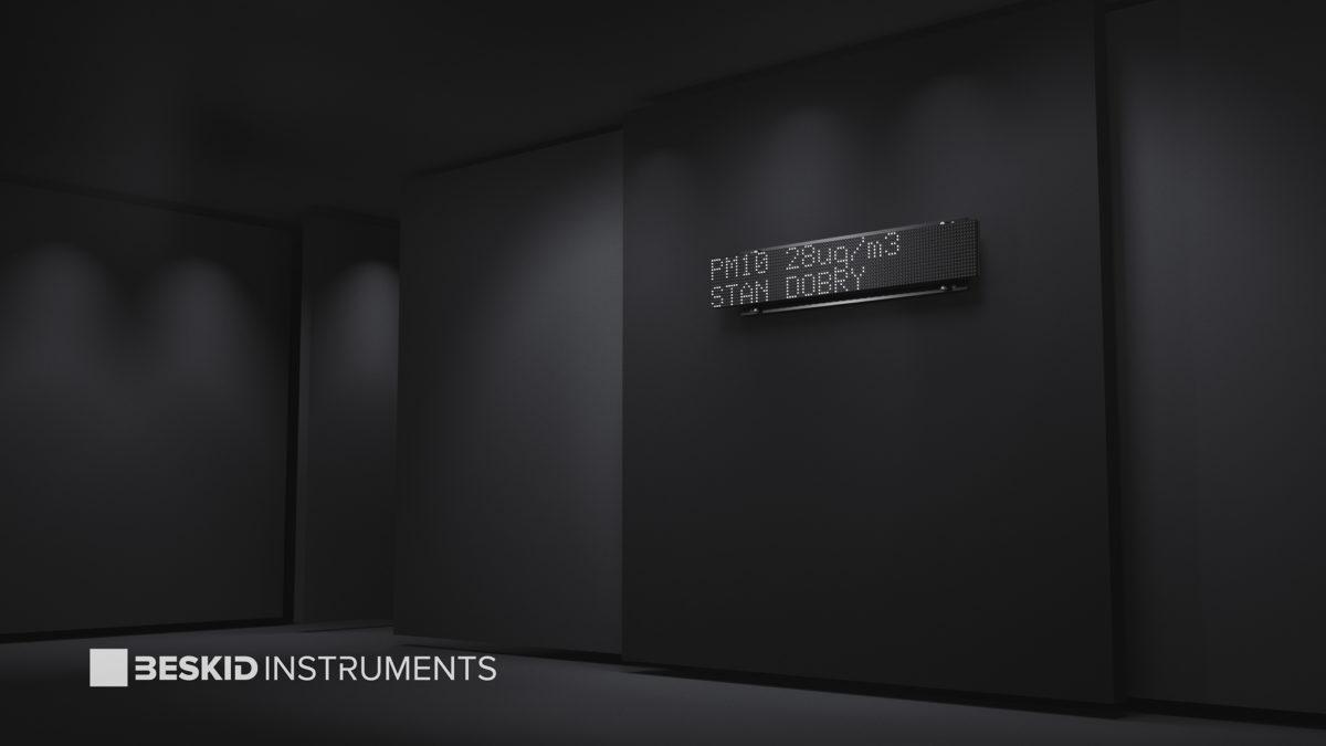 Zewnętrzna tablica świetlna do miernika