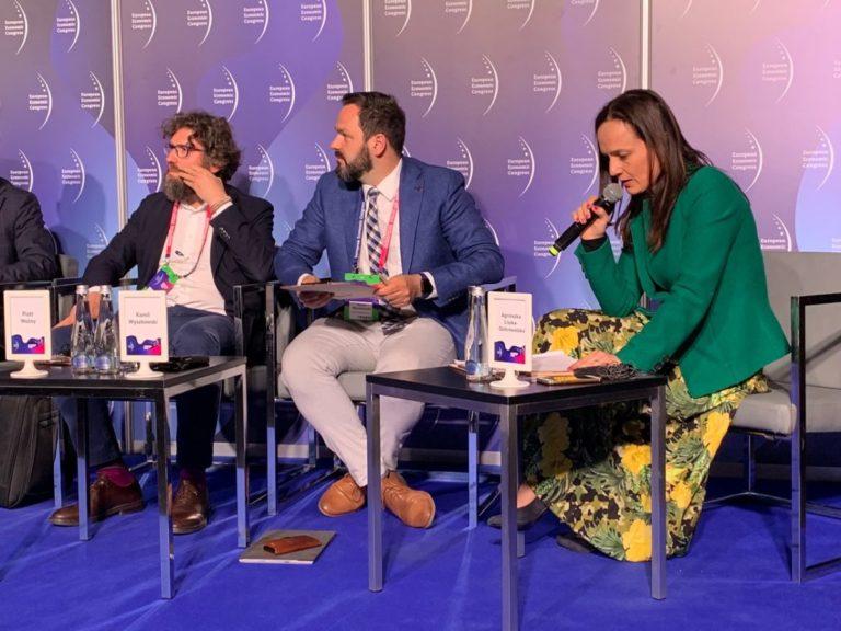 Europejski Kongres Gospodarczy panel o smogu