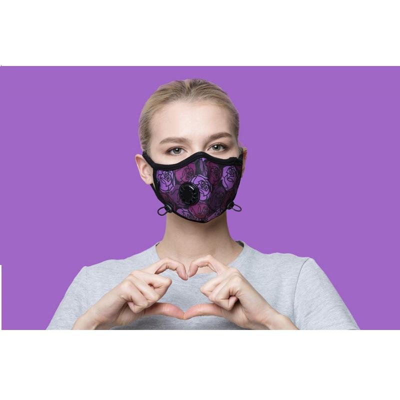 Maska Antysmogowa Cambridge - Róże