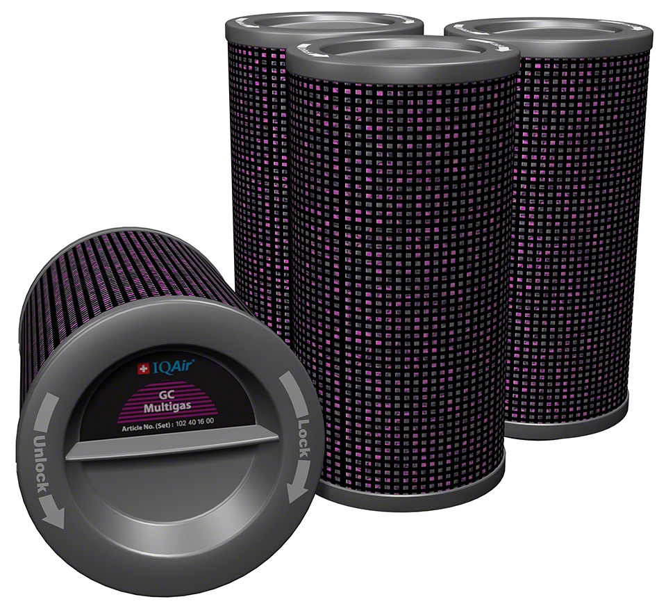 Zestaw wszystkich filtrów do oczyszczacza IQAir HealthPro GC MultiGas
