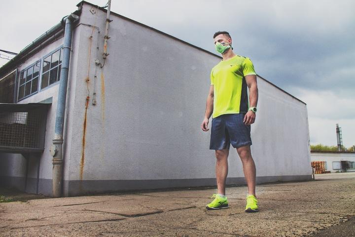 jogging in mask